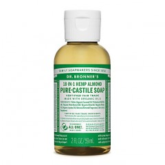 Dr Bronner's - Almond - Pure Castille Liquid Soap -  02 oz/60 ml