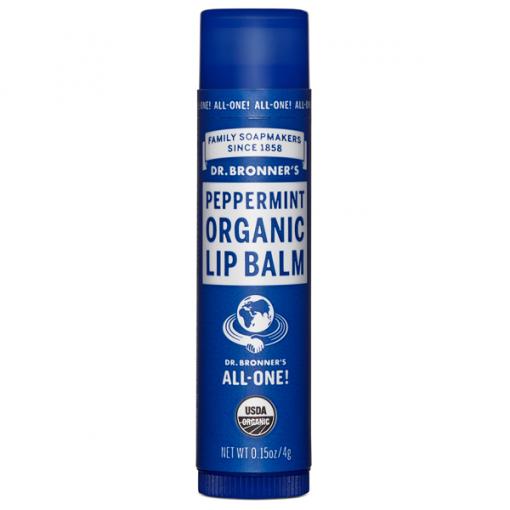 Dr Bronner`s Organic Peppermint Lip Balm 4g
