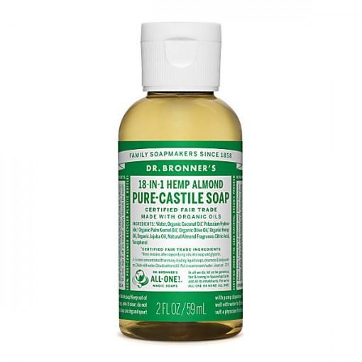 Dr Bronner's - Almond - Pure Castille Liquid Soap -  02 oz/59 ml