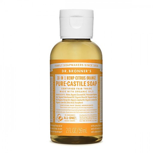 Dr Bronner's - Citrus - Pure Castille Liquid Soap - 02 oz/60 ml