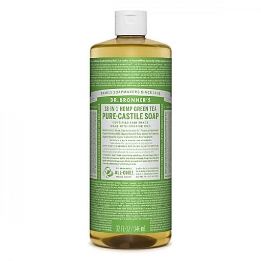 Dr Bronner's - Green Tea - Pure Castille Liquid Soap - 32 oz/946 ml