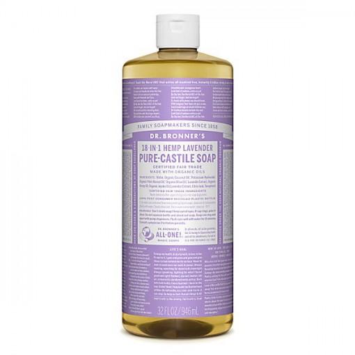 Dr Bronner's - Lavender - Pure Castille Liquid Soap - 32 oz/946 ml