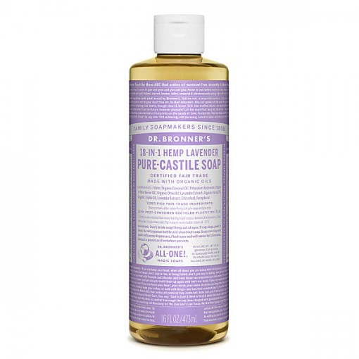 Dr Bronner's - Lavender - Pure Castille Liquid Soap - 16 oz/473 ml
