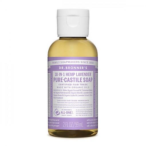 Dr Bronner's - Lavender - Pure Castille Liquid Soap - 02 oz/59 ml