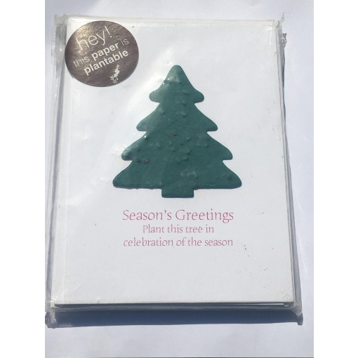 Botanical Paperworks- Plantable Spruce Festive Christmas Trees-Set of Six Plantable Gift Cards
