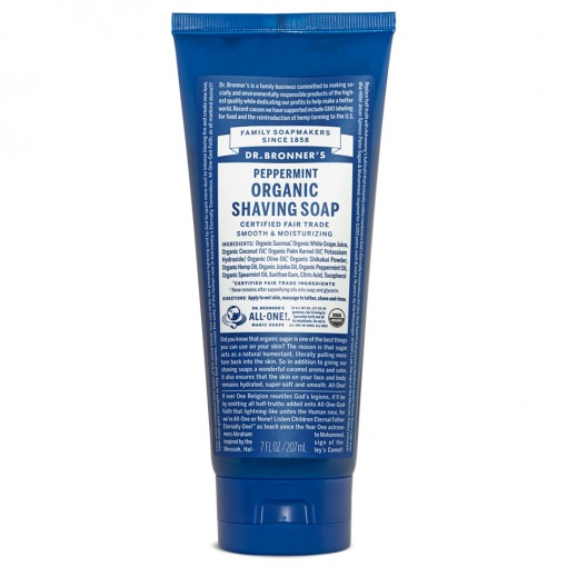 Dr Bronner's - Peppermint - Shaving Soap - 07 oz/207 ml