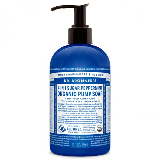 Dr Bronner's - Peppermint - Pump Soap - 12 oz/355 ml