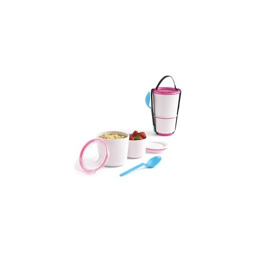Black + Blum Lunch Pot White/Pink