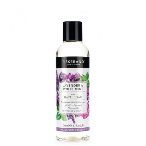 Tisserand Lavender And White Mint Bath Soak 200ml