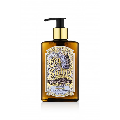 Ecosoapia - Organic Pure Castile Soap - Hand & Body Wash - Unscented - 295 ml