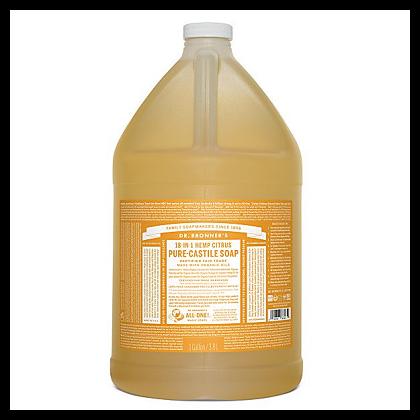Dr Bronner's - Citrus - Pure Castille Liquid Soap - 1 Gallon/3,8 L