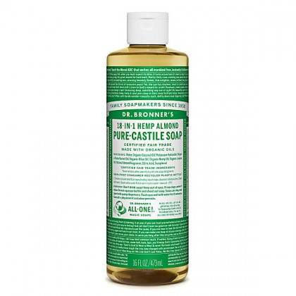 Dr Bronner's - Almond - Pure Castille Liquid Soap - 16 oz/473 ml