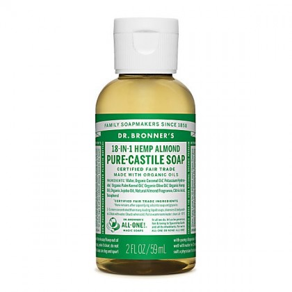 Dr Bronner's - Almond - Pure Castille Liquid Soap -  02 oz/59 ml