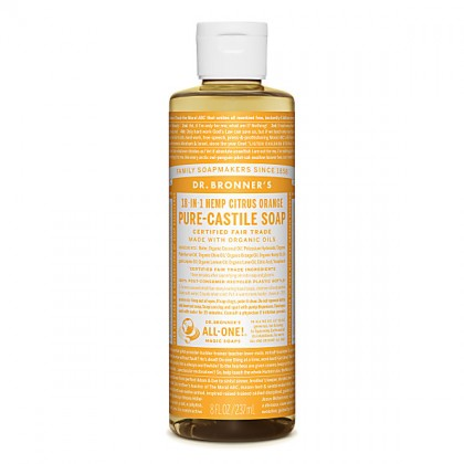 Dr Bronner's - Citrus - Pure Castille Liquid Soap - 08 oz/237 ml