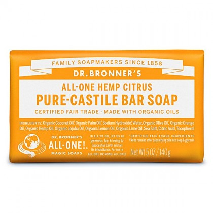 Dr Bronner's - Citrus - Soap Bar - 140 gr