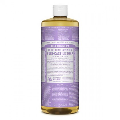 Dr Bronner's - Lavender - Pure Castille Liquid Soap - 32 oz/946 ml