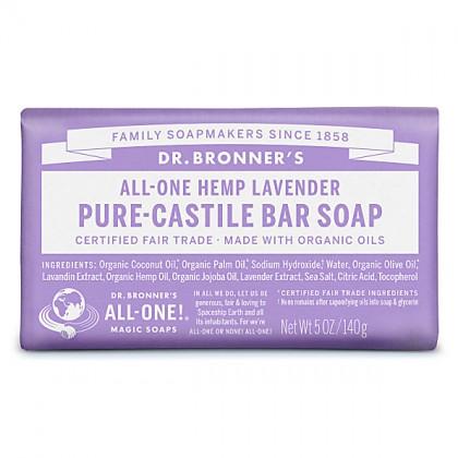 Dr Bronner's - Lavender - Soap Bar - 140 gr