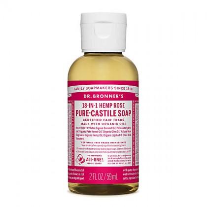 Dr Bronner's - Rose - Pure Castille Liquid Soap - 02 oz/59 ml
