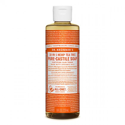 Dr Bronner's - Tea Tree - Pure Castille Liquid Soap - 08 oz/237 ml