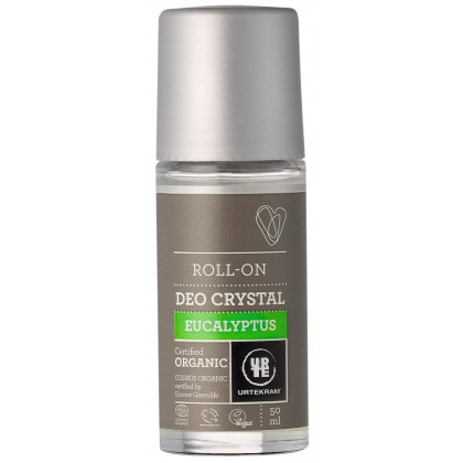 Urtekram - Eucalyptus - Crystal Roll-On Deodorant - 50 ml