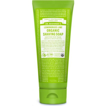 Dr Bronner's - Lemongrass Lime - Shaving Soap - 07 oz/208 ml
