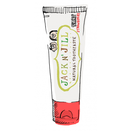 Jack N' Jill 50 g Strawberry Natural Calendula Toothpaste