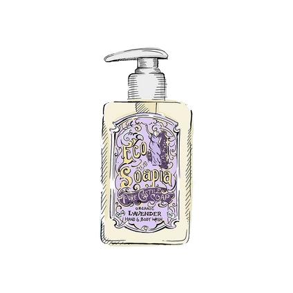 Ecosoapia - Organic Pure Castile Soap - Hand & Body Wash - Lavender - 295 ml