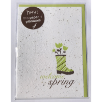Botanical Paperworks 'Welcome Spring' Festive Plantable Paper Gift Card -Classic-All Occasion Cards