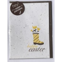 Botanical Paperworks 'Happy Easter' Festive Plantable Paper Gift Card -Classic-All Occasion Cards