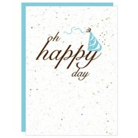 BOTANICAL PAPERWORKS HAPPY DAY CARD PLANTABLE