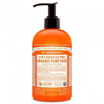 Dr Bronner's - Tea Tree - Pump Soap - 12 oz./355 ml