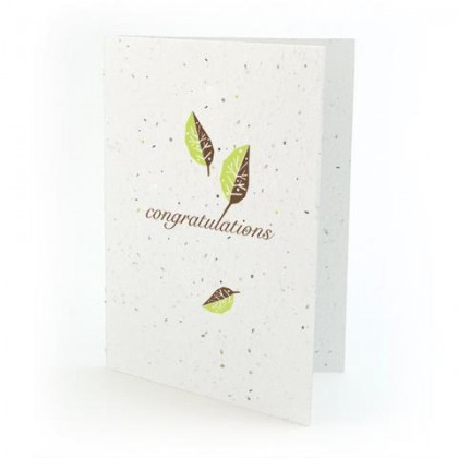 "Botanical Paperworks - Plantable Paper Gift Cards - ""Congratulations"" - Light Green"