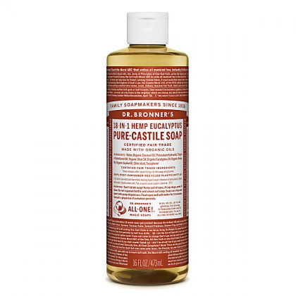 Dr Bronner's - Eucalyptus - Pure Castille Liquid Soap - 16 oz/473 ml