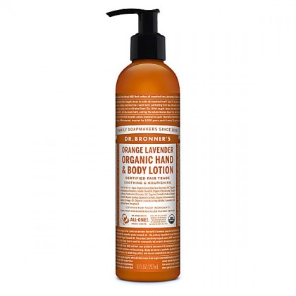 Dr Bronner's - Orange Lavender -  Hand & Body Lotion - 08 oz/237 ml