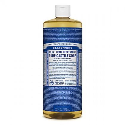 Dr Bronner's - Peppermint - Pure Castille Liquid Soap - 32 oz/946 ml