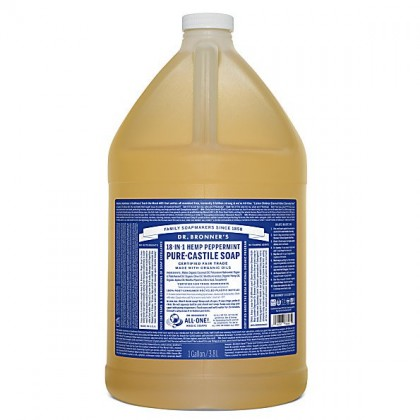 Dr Bronner's - Peppermint - Pure Castille Liquid Soap - 1 Gallon/3,8 L