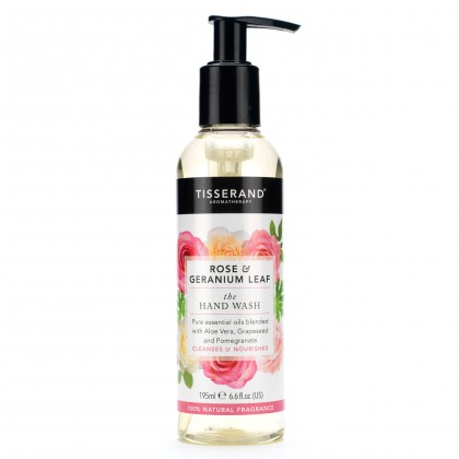 Tisserand - Rose & Geranium Leaf - Hand Wash - 195 ml