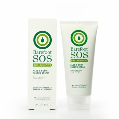 Barefoot SOS - Dry + Sensitive - Face & Body Rescue Cream - 100 ml