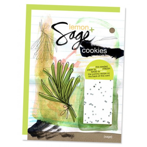 Botanical Paperworks - Plantable Paper Yummy Gift Card - Lemon & Sage