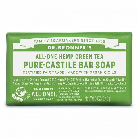 Dr Bronner's - Green Tea - Soap Bar - 140 gr