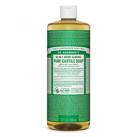 Dr Bronner's - Almond - Pure Castille Liquid Soap - 32 oz/946 ml