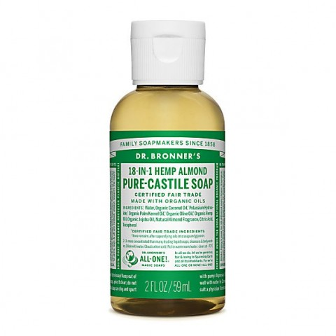 Dr Bronner's - Almond - Pure Castille Liquid Soap -  02 oz/60 ml
