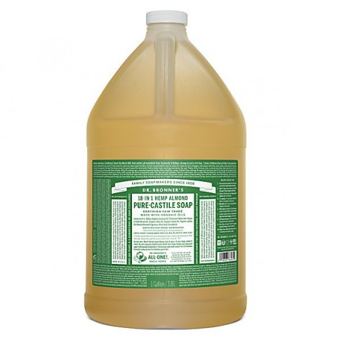 Dr Bronner's - Almond - Pure Castille Liquid Soap - 1 Gallon/3,8 L