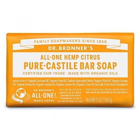 Dr Bronner's - Citrus - Soap Bar - 140 gr