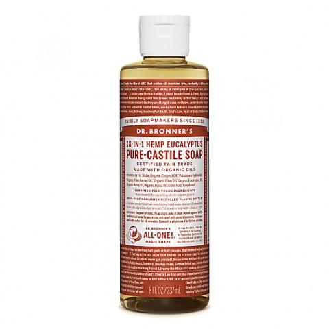 Dr Bronner's - Eucalyptus - Pure Castille Liquid Soap - 08 oz/237 ml