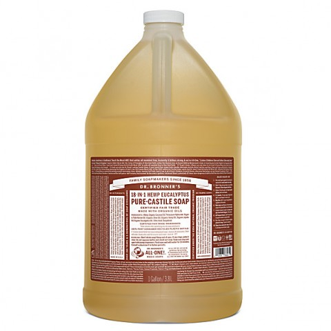 Dr Bronner's - Eucalyptus - Pure Castille Liquid Soap - 1 Gallon/3,8 L