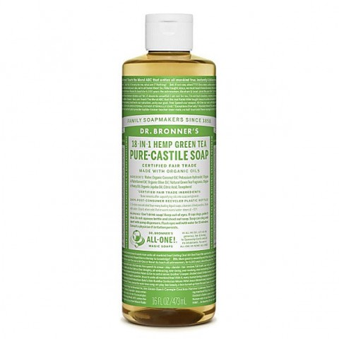 Dr Bronner's - Green Tea - Pure Castille Liquid Soap - 16 oz/473 ml