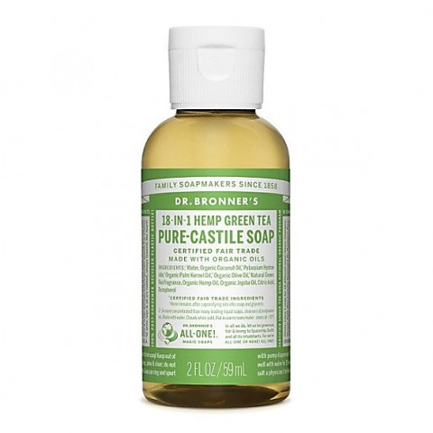 Dr Bronner's - Green Tea - Pure Castille Liquid Soap - 02 oz/59 ml