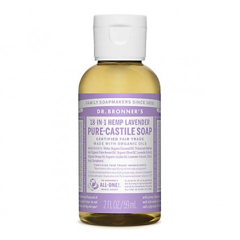 Dr Bronner's - Lavender - Pure Castille Liquid Soap - 02 oz/59 ml