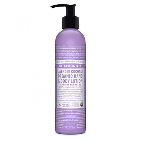 Dr Bronner's - Lavender Coconut -  Hand & Body Lotion - 08 oz/237 ml